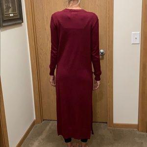 Extra long cardigan